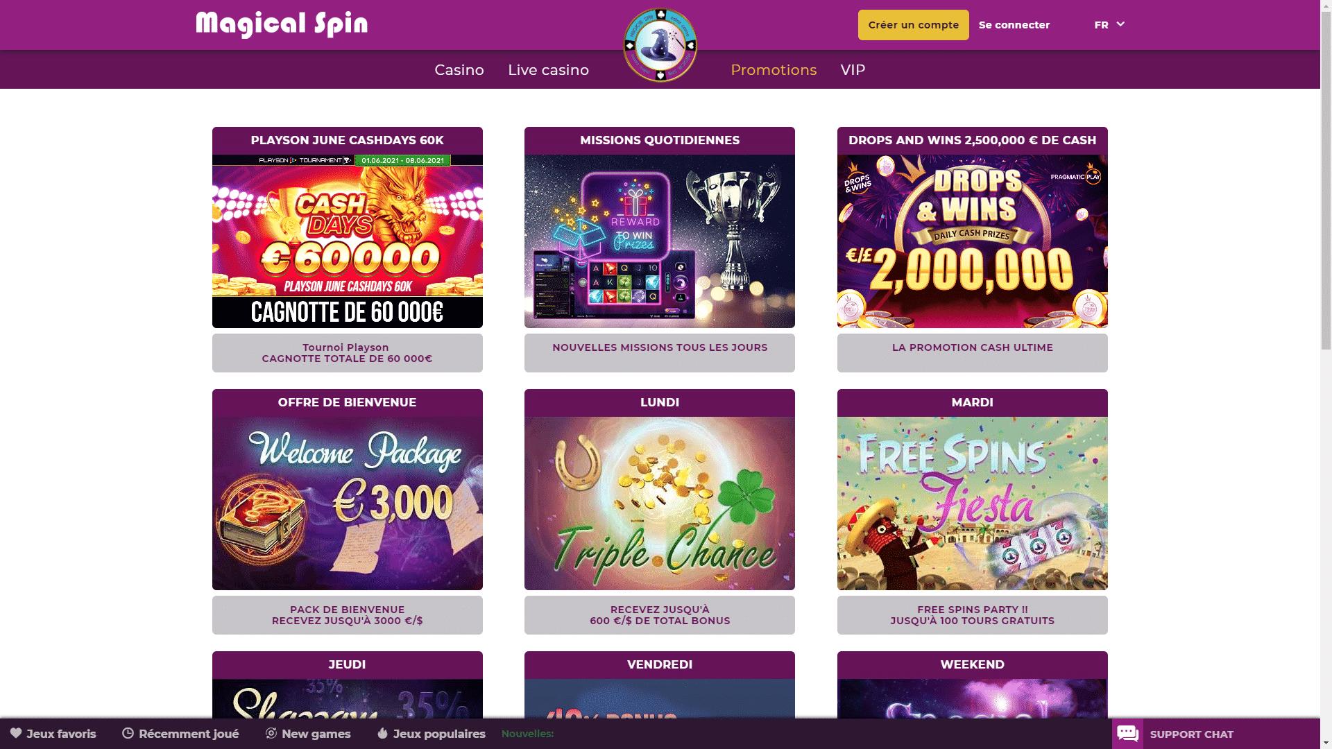 magical spin avis casino