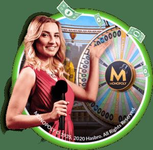 croupier en direct monopoly live